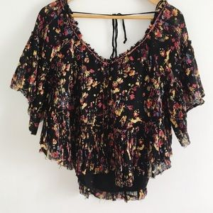 Free People Cropped Floral Top